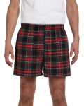 Black Stewart Flannel Short as seen from the front