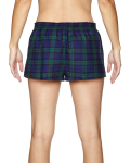 Blackwatch Juniors' Flannel Short as seen from the back