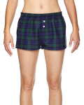 Blackwatch Juniors' Flannel Short as seen from the front