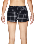 Black Grey Juniors' Flannel Short as seen from the back