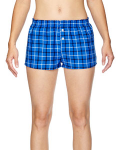 Royal Black Juniors' Flannel Short as seen from the front