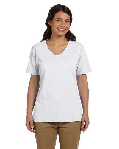 Ladies' 5.2 oz. ComfortSoft® V-Neck Cotton T-Shirt