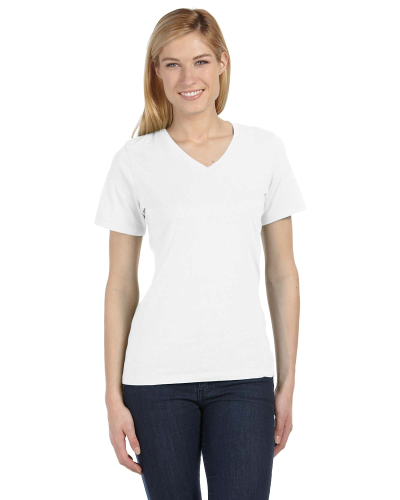 Ladies' Relaxed Jersey Short-Sleeve V-Neck T-Shirt