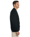 Black 8 oz. NuBlend® 50/50 Cardigan as seen from the sleeveleft