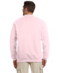 Classic Pink 8 oz. NuBlend® 50/50 Cardigan as seen from the back
