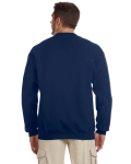 J Navy 8 oz. NuBlend® 50/50 Cardigan as seen from the back