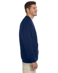 J Navy 8 oz. NuBlend® 50/50 Cardigan as seen from the sleeveleft