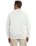 White 8 oz. NuBlend® 50/50 Cardigan as seen from the back