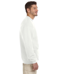 White 8 oz. NuBlend® 50/50 Cardigan as seen from the sleeveleft