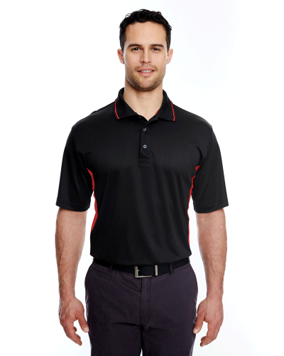 UltraClub Men's Cool & Dry Sport 2-Tone Polo