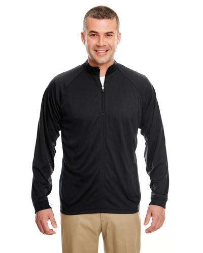 Adult Cool & Dry Sport Quarter-Zip Pullover with Side Panels