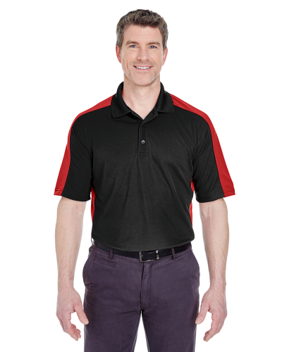 Adult Cool & Dry Stain-Release 2-Tone Performance Polo