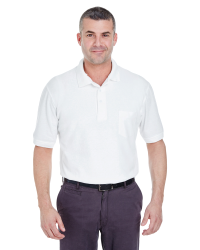 Adult Whisper Piqué Polo with Pocket