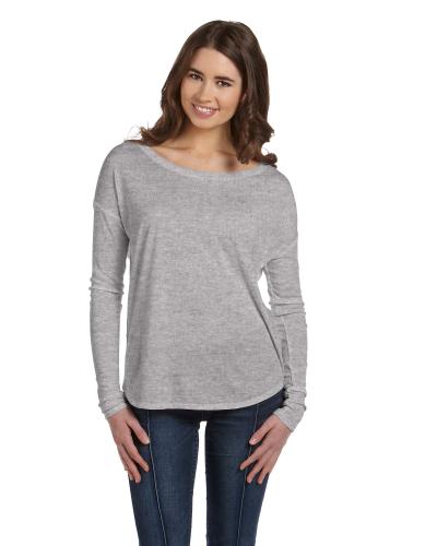 eb8b5f6f Custom Ladies' Flowy Long-Sleeve T-Shirt with 2x1 Sleeves - Image ...