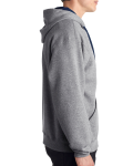 Oxford J Navy 8 oz., 50/50 NuBlend® Contrast Full-Zip Hood as seen from the sleeveleft