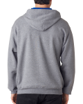 Oxford Royal 8 oz., 50/50 NuBlend® Contrast Full-Zip Hood as seen from the back