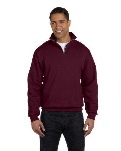 Adult 8 oz. NuBlend® Quarter-Zip Cadet Collar Sweatshirt