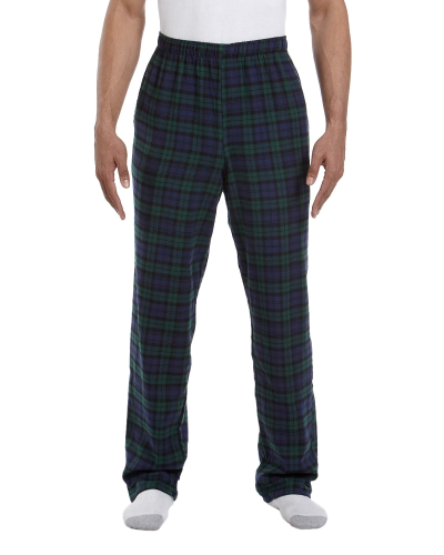 Black Watch Drawstring Flannel Pant as seen from the front