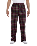 Mossy Plum Drawstring Flannel Pant as seen from the front
