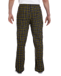 Black Gold Button-Fly Flannel Pant as seen from the back