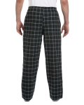 Hunter Black Button-Fly Flannel Pant as seen from the back