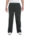 Hunter Black Button-Fly Flannel Pant as seen from the front