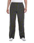 Navy Gold Button-Fly Flannel Pant as seen from the front