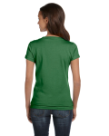 Leaf Ladies' Jersey Short-Sleeve V-Neck T-Shirt as seen from the back