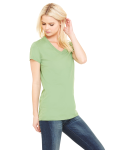 Leaf Ladies' Jersey Short-Sleeve V-Neck T-Shirt as seen from the sleeveleft