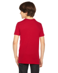 Red MADE IN USA Youth Poly-Cotton Short-Sleeve Crewneck as seen from the back