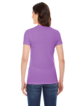 Orchid MADE IN USA Ladies' Poly-Cotton Short-Sleeve Crewneck as seen from the back