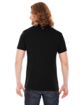 Black MADE IN USA Unisex Poly-Cotton Short-Sleeve Crewneck as seen from the back
