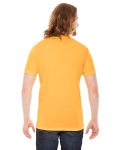 Heather Gold MADE IN USA Unisex Poly-Cotton Short-Sleeve Crewneck as seen from the back