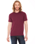 Hthr Cranberry MADE IN USA Unisex Poly-Cotton Short-Sleeve Crewneck as seen from the front