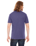 Hthr Imp Purple MADE IN USA Unisex Poly-Cotton Short-Sleeve Crewneck as seen from the back