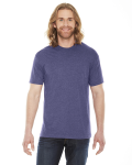Hthr Imp Purple MADE IN USA Unisex Poly-Cotton Short-Sleeve Crewneck as seen from the front