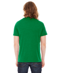 Hthr Kelly Green MADE IN USA Unisex Poly-Cotton Short-Sleeve Crewneck as seen from the back