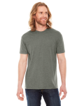 Hthr Lieutenant MADE IN USA Unisex Poly-Cotton Short-Sleeve Crewneck as seen from the front