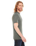 Hthr Lieutenant MADE IN USA Unisex Poly-Cotton Short-Sleeve Crewneck as seen from the sleeveleft