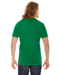 Kelly Green MADE IN USA Unisex Poly-Cotton Short-Sleeve Crewneck as seen from the back