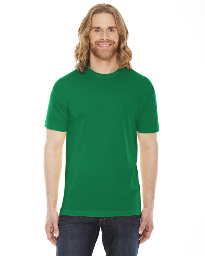 Kelly Green MADE IN USA Unisex Poly-Cotton Short-Sleeve Crewneck as seen from the front