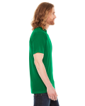 Kelly Green MADE IN USA Unisex Poly-Cotton Short-Sleeve Crewneck as seen from the sleeveleft