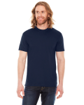 Navy MADE IN USA Unisex Poly-Cotton Short-Sleeve Crewneck as seen from the front