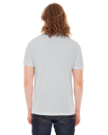 New Silver MADE IN USA Unisex Poly-Cotton Short-Sleeve Crewneck as seen from the back