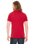 Red MADE IN USA Unisex Poly-Cotton Short-Sleeve Crewneck as seen from the back