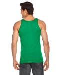 Hthr Kelly Green MADE IN USA Unisex Poly-Cotton Tank as seen from the back