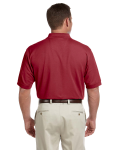 Burgundy Men's Pima Pique Short-Sleeve Polo as seen from the back