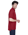 Burgundy Men's Pima Pique Short-Sleeve Polo as seen from the sleeveleft