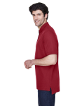 Burgundy Men's Pima Pique Short-Sleeve Polo as seen from the sleeveright