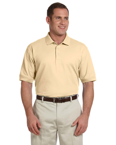 Butter Men's Pima Pique Short-Sleeve Polo as seen from the front